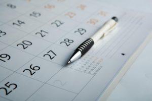 Pen on calendar: All About Women Women's Health Awareness Blog